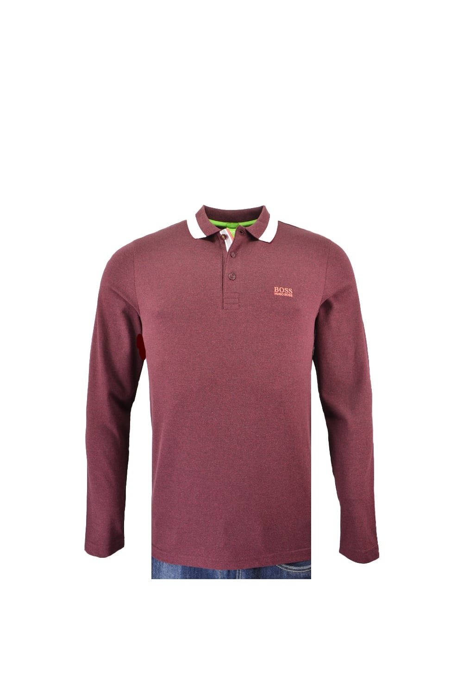 577a54aa Hugo Boss Green Plisy Long Sleeve Polo Shirt - Clothing from Michael ...
