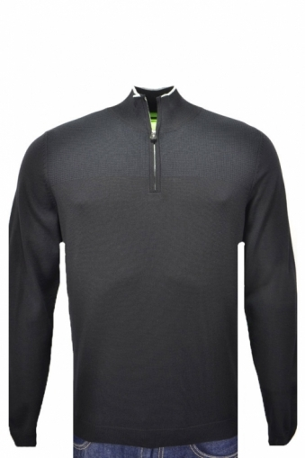 Hugo Boss Green Regular Fit Water Repellent Zarb Half Zip