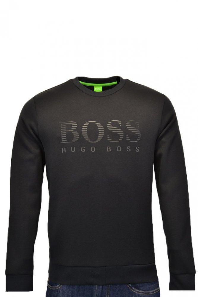 hugo boss green hugo boss green salbo sweatshirt black. Black Bedroom Furniture Sets. Home Design Ideas