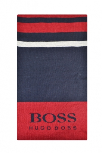 Hugo Boss Green Scarf Red/Navy