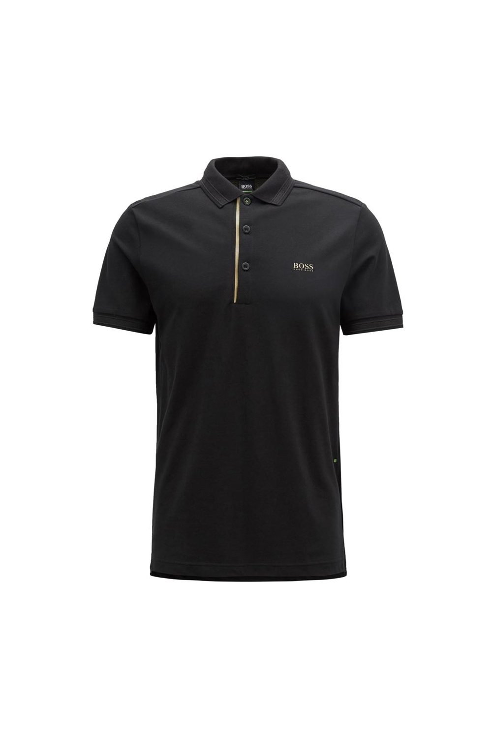 78e32036 Hugo Boss Green Paddy Polo Shirt in Black & Gold 50395931/001