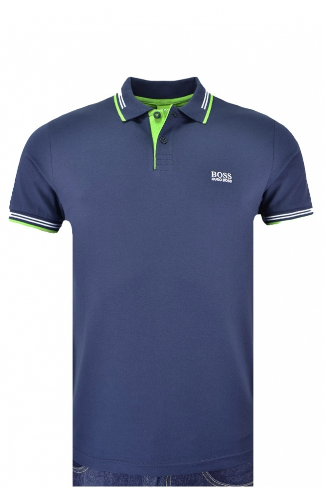 Hugo Boss Green Slim Fit Paul Polo Shirt