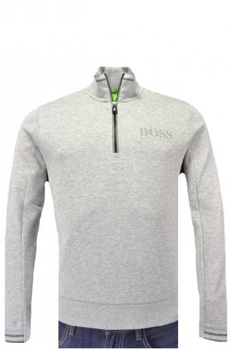 Hugo Boss Green Sweat Half Zip Knitwear