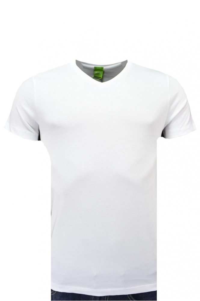 4f145036c8 Hugo Boss Green V-Neck C-canistro 8o T Shirt - Clothing from Michael ...