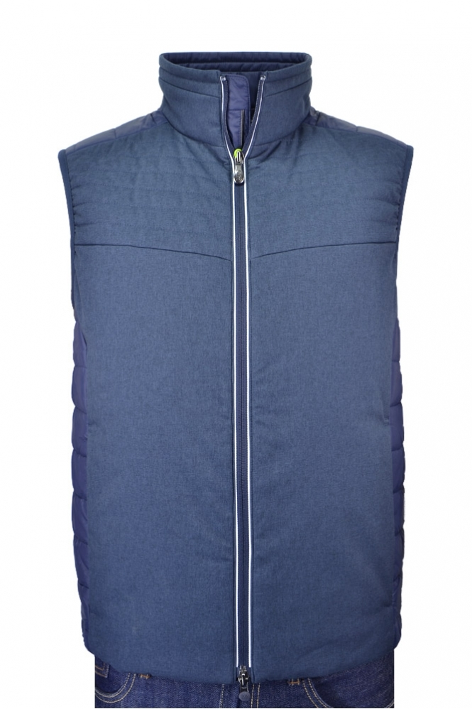 Hugo Boss Green Vhero Padded Gilet Navy