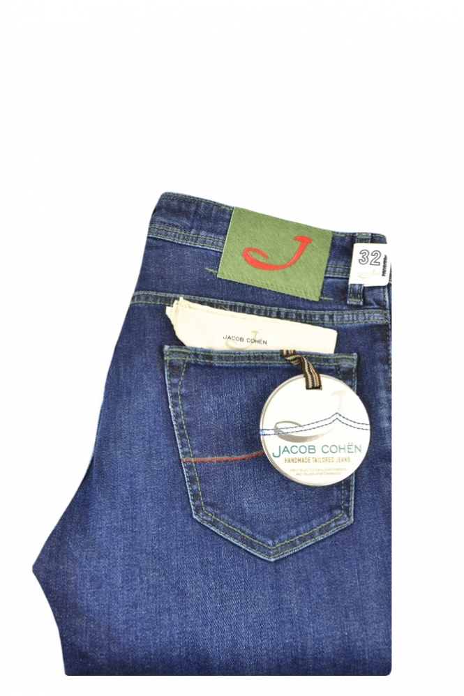 Jacob Cohen PW622 Comfort Slim Fit Handmade Tailored Jeans Denim