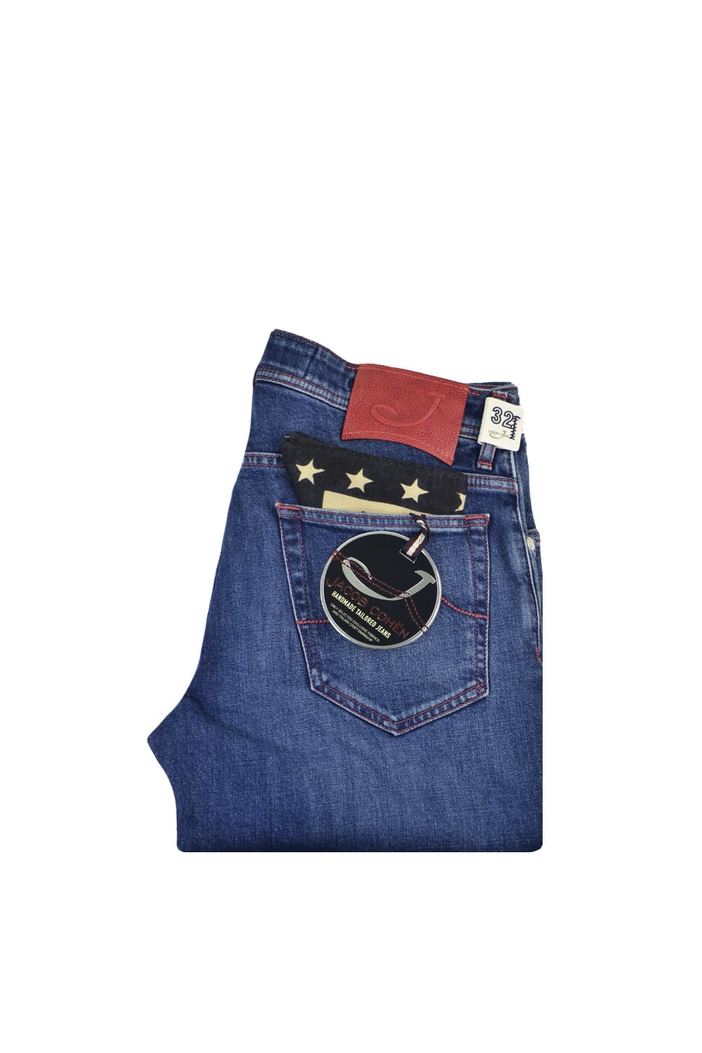 f415824169fc0a Jacob Cohen Slim Fit J622 Tailored Jeans Denim/Red - Clothing from ...