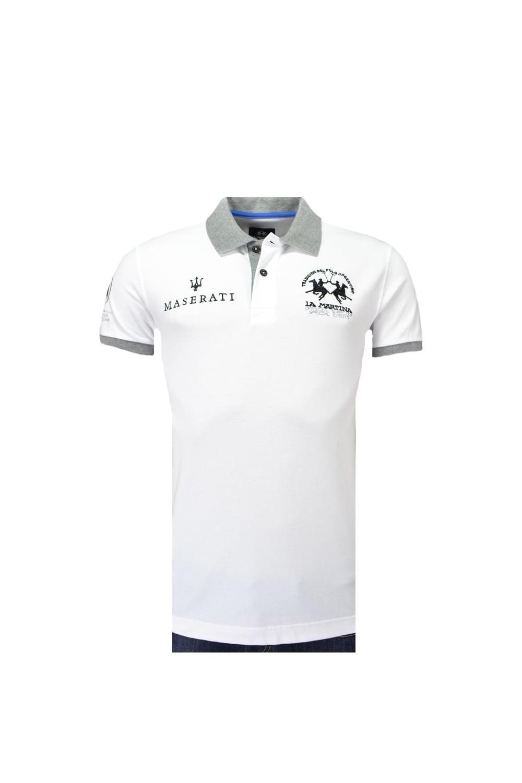 ab12d3c678 La Martina Maserati Short Sleeve Piquet Stretch Slim Fit Polo Shirt ...