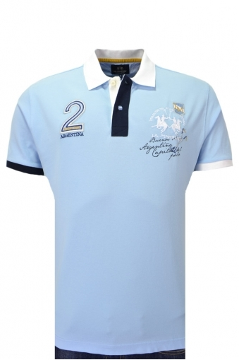 La Martina Piquet Stretch Polo Shirt