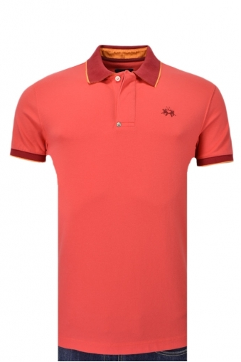 La Martina Piquet Stretch Slim Fit Polo Shirt