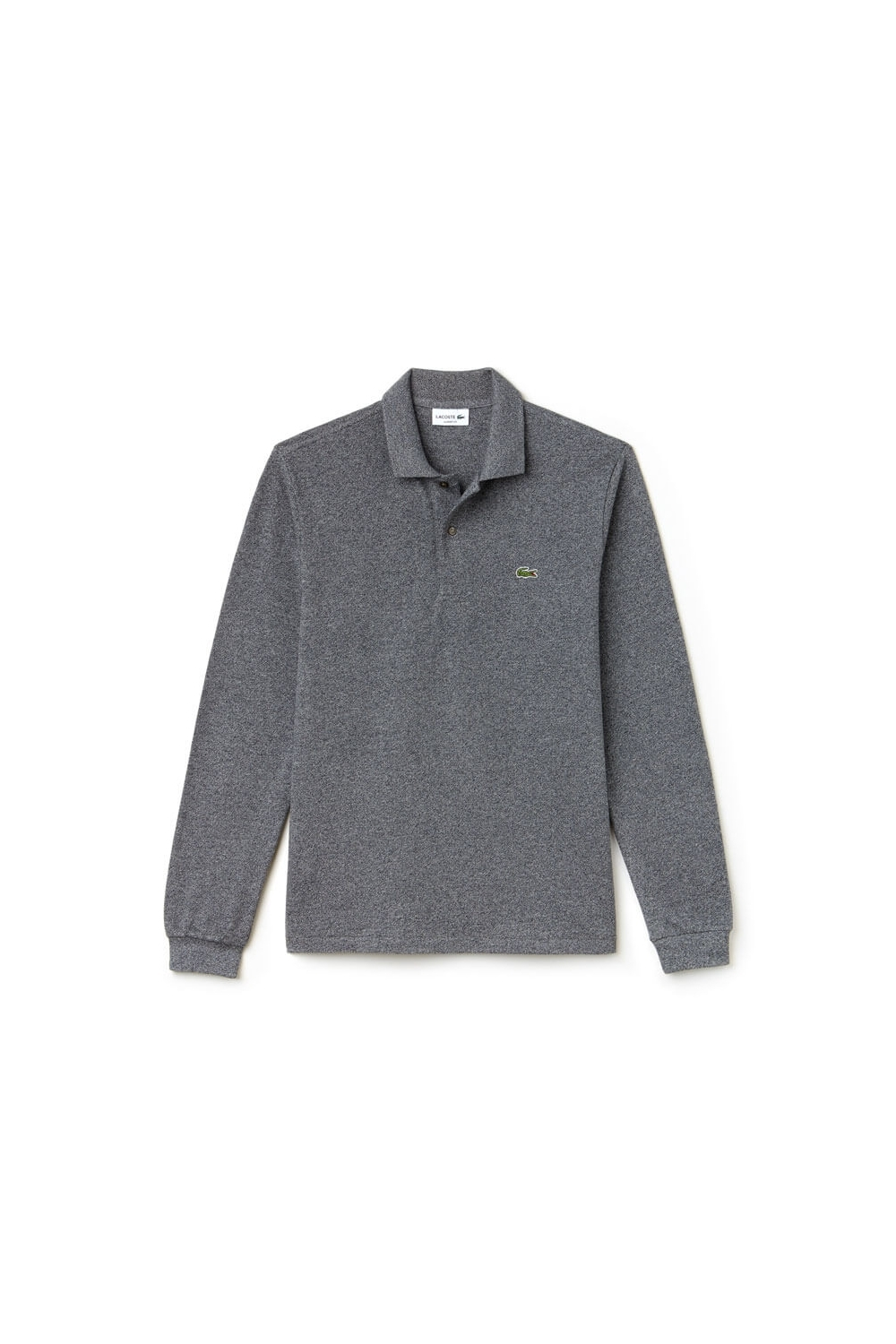 39826602f Lacoste Polo Shirt Long Sleeved in Grey Marl L1313 SXY