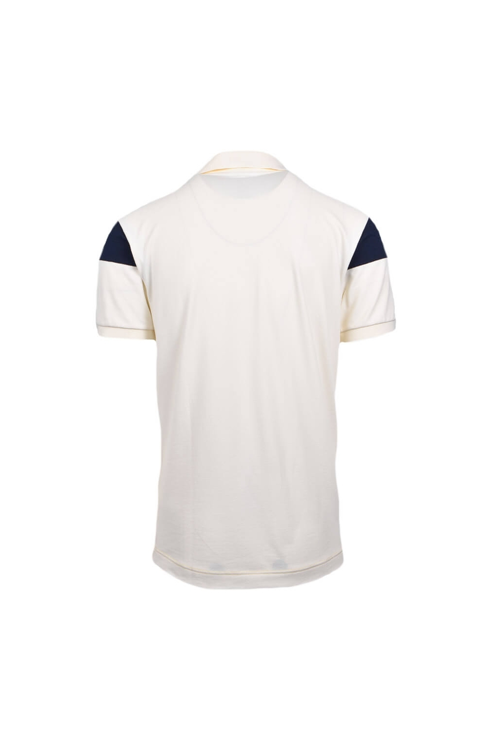 78a812bb Lacoste Colour Block Stripe Technical Pique Polo Shirt Cream Navy Gold
