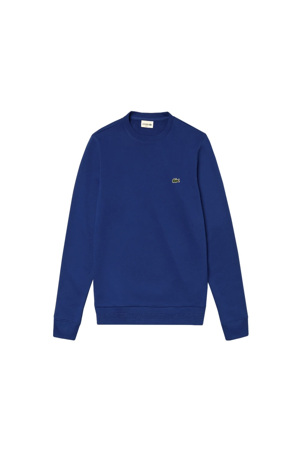 highly praised kid superior materials Lacoste Crew Neck Contrast Accents Sweatshirt Bright Blue Size: SIZE 4