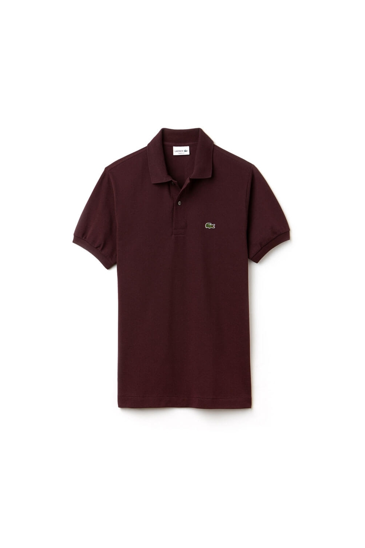 2462d06a576 Lacoste Logo Pique Classic Fit Polo Shirt Maroon