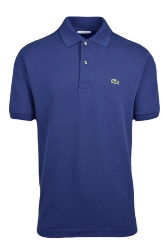 01aff910 Lacoste Logo Pique Regular Fit Polo Shirt Royal Blue