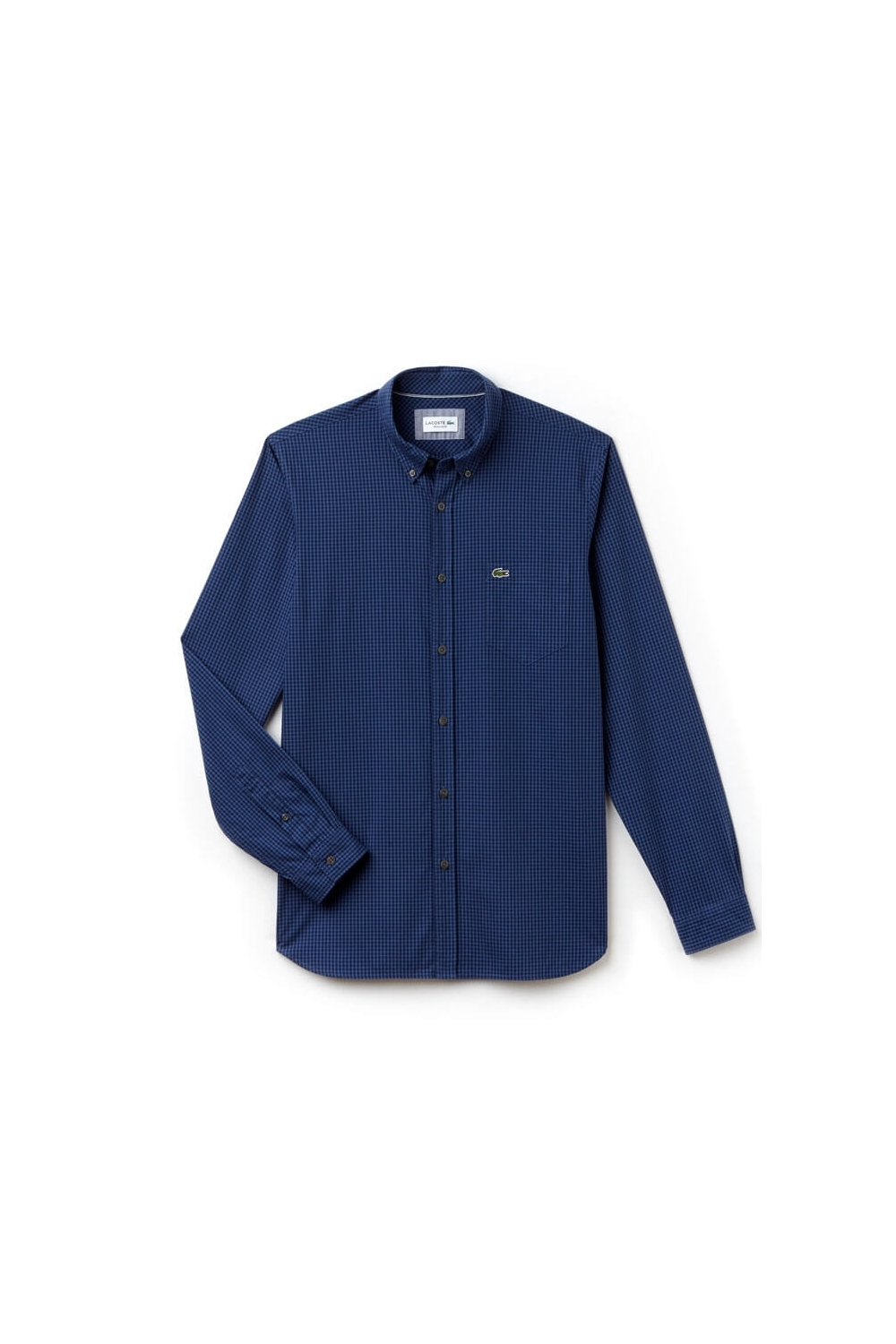 Lacoste Long Sleeve Regular Fit Shirt Blue Small Multi Check 69a236ba2491