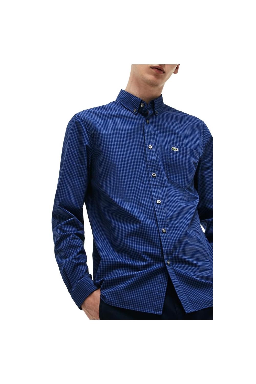 82fca977 Long Sleeve Regular Fit Shirt Blue Small Multi Check