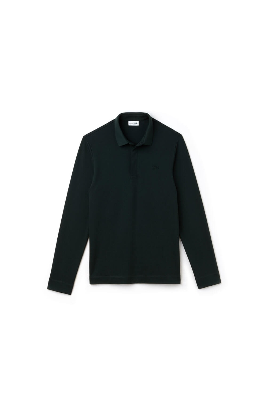 28130ec8331b Lacoste Regular Fit Long Sleeve Polo Shirt Dark Green Sale