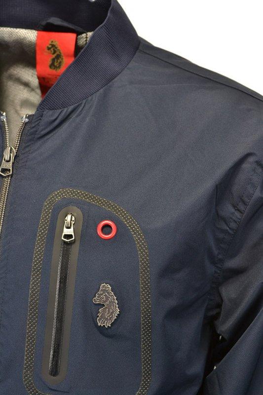 Luke Lancaster Bomber Jacket Navy - Clothing from Michael Stewart ... 78c20dc46452