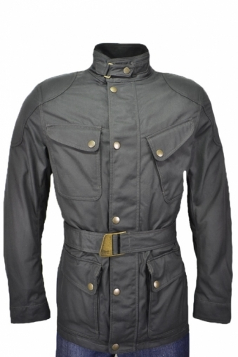 Matchless Streetfarer Wax Cotton  Jacket Black