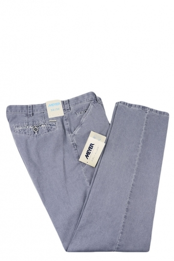 Meyer Chicago Cotton Trouser Blue