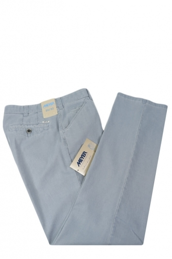 Meyer Chicago Cotton Trousers Light Blue