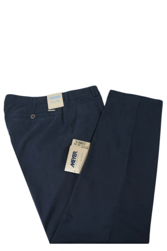 Meyer New York Cotton Trouser Blue