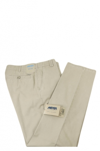 Meyer New York Cotton Trouser Stone
