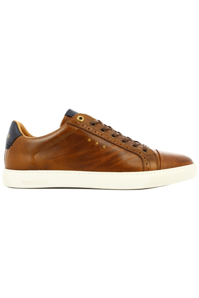 Pantofola D'oro Napoli Brogue Uomo Low Trainers Tan