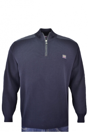Paul And Shark Half Zip Jumper Navy