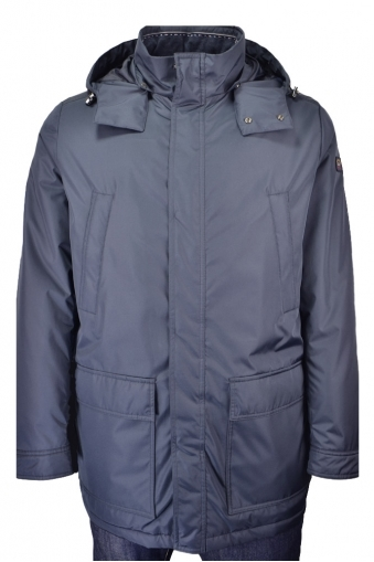 Paul And Shark 3/4 Three Quarter Length Coat With Attachable Hood Navy