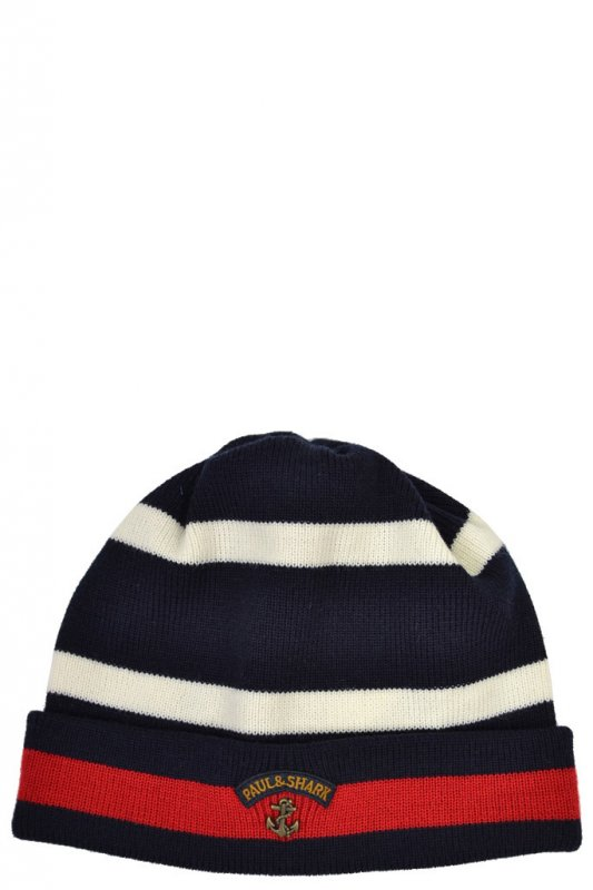 1b2e6cf8e6e10 Paul   Shark Paul And Shark Beanie Multi Stripe - Accessories from ...