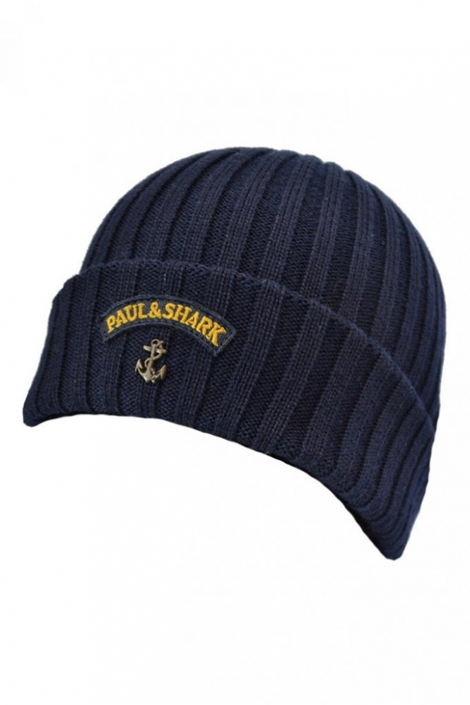 69cb72f732d8f Paul   Shark Paul And Shark Beanie Navy - Accessories from Michael ...
