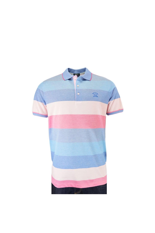 995640c16d6 Paul & Shark Paul And Shark Blue/pink Stripe Polo Shirt Blue And ...