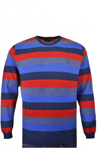 Paul And Shark Crew Neck Jumper Knitwear Multi Stripe