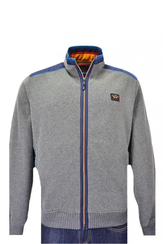 Paul & Shark Paul And Shark Full Zip Fleece Knitwear With Detachable Hood