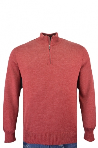Paul And Shark Half Zip Knitwear Dark Red