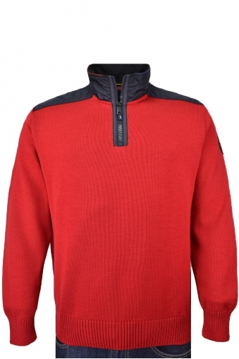 Paul And Shark Half Zip Knitwear Red