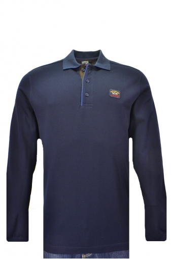 Paul And Shark Large Fit Long Sleeved Polo