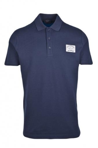 a8142a78 Paul And Shark Organic Cotton Reflective Logo Regular Fit Polo Shirt Navy