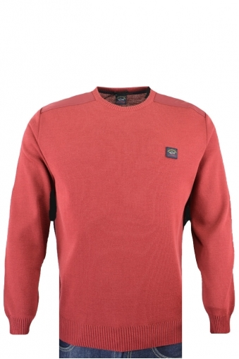Paul And Shark Regular Fit Crew Neck Jumper Red