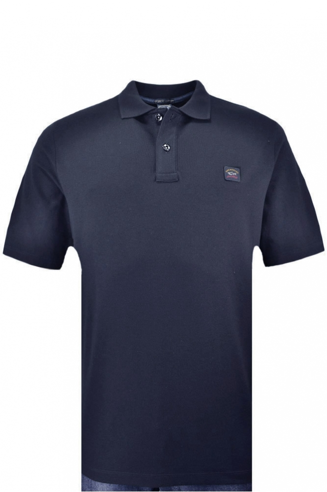 Paul & Shark Paul And Shark Regular Fit Plain Polo Short Navy