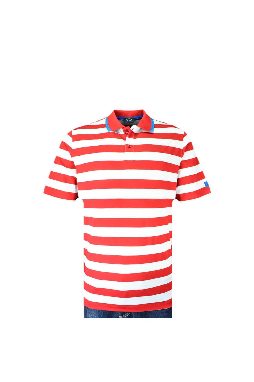 c01e7202639 Paul   Shark Paul And Shark Regular Fit Polo Shirt Red white Stripe ...