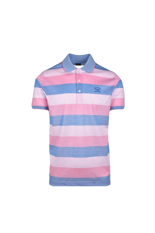 6dd67595066 Paul & Shark Paul And Shark Regular Fit Stripe Polo Shirt Pink/blue ...