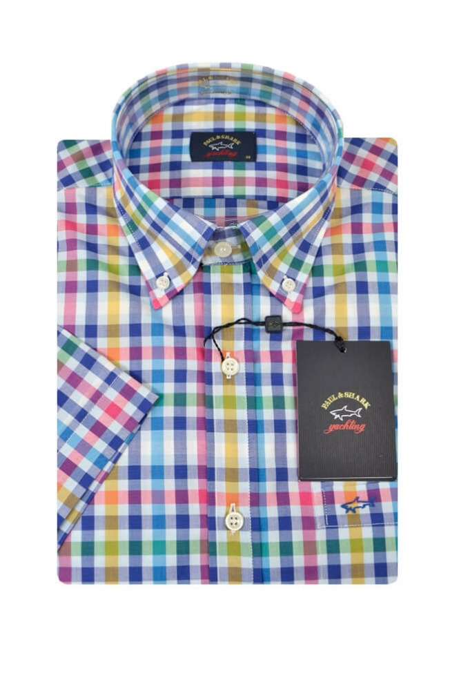 Paul & Shark Paul And Shark Short Sleeve Shirt Multi Coloured Check