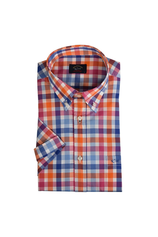 558198ac Paul & Shark Short Sleeve Check Shirt E19P3309   Michael Stewart Mens