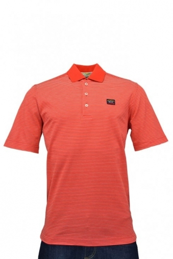 Paul And Shark Striped Polo Red Stripe