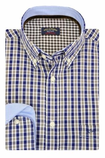 Paul & Shark Blue/Brown Check Shirt