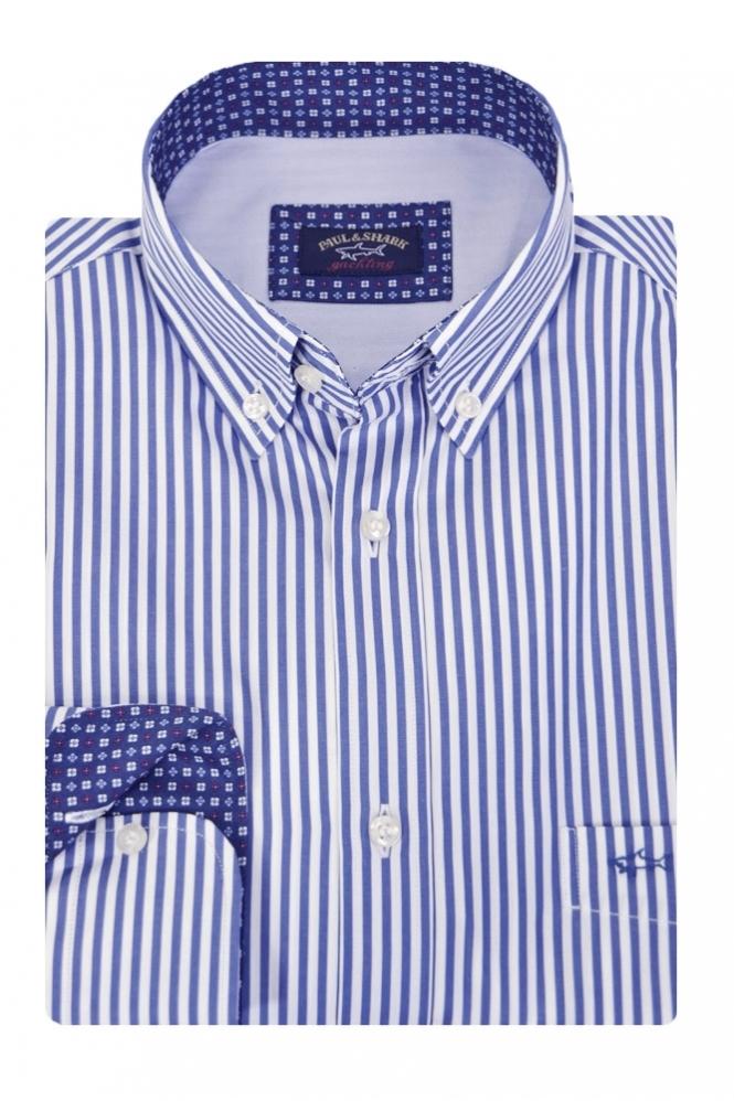 7ff992690b Paul & Shark Blue & White Stripe Shirt - Clothing from Michael ...