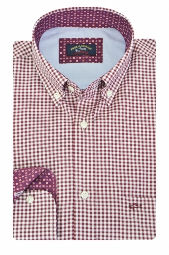 Paul & Shark Red Gingham Check Shirt Red Check